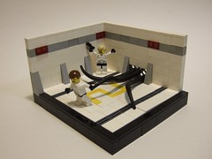An Incident On Level Two (The Acquaintance Crate) Tags: lego space scifi worm vig viginette brickarms