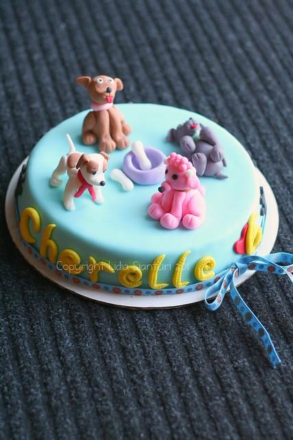 Puppy theme Cake