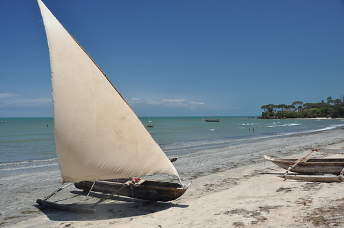 Dhow on Kigombe beach