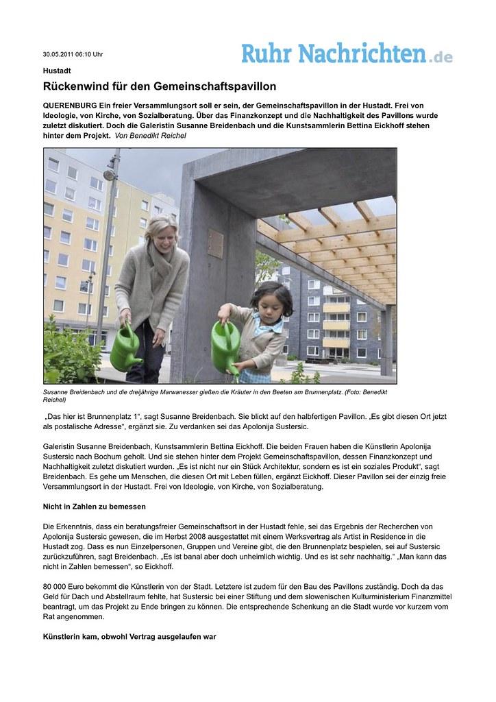 Hustadt_ Rückenwind für den Gemeinschaftspavillon -  Ruhr Nachrichten