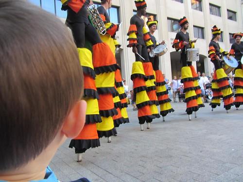Batucando No Ar (Alea Teatre) en Getxo Folk 2011