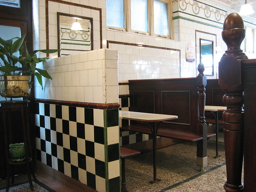 Inside the pie & mash shop