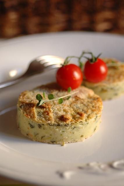 sformato di patate con fiori di zucca e Gran Kinara ™
