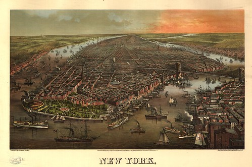 perspective view of new york city
