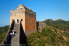 Great Wall Watchtower at Jinshanling, Hebei (adventurocity) Tags: china travel vacation tourism photography photo asia photographer picture visit tourist unesco traveller adventure greatwall prc hebei visitor beacon  unescoworldheritage watchtower thegreatwall traveler greatwallofchina peoplesrepublicofchina jinshanling      luanping hopeh  jnshnlng   lunpngxin hbi