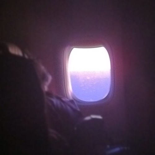 Looking through the plane's window #plane