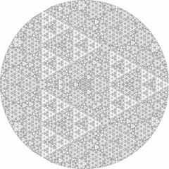 King Size Recursive Apollonian Gasket (fdecomite) Tags: circle packing math fractal gasket descartes povray tangent recursivity imagej tangency apollonian apollonius