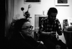 Amy and Rodrigo (patrickjoust) Tags: leica people bw white black blancoynegro film home argentina analog america 35mm ed nikon focus san fuji photographer amy mechanical scanner buenos aires f14 south cosina voigtlander stock patrick rangefinder v 400 gathering push ba manual 40mm process m3 rodrigo joust 3200 range finder developed premium nokton cv wetzlar develop telmo xtol enthusiasts blancetnoir leitz arista alcon quintanilha schwarzundweiss autaut voigtlandernokton40mmf14mc patrickjoust amyjoust