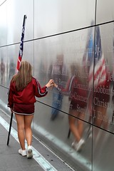 I Can Still Touch Your Soul (thruthelookingglass) Tags: lights memorial 911 memory sorrow 2011 omot libertystatepark freedomtower tenyears
