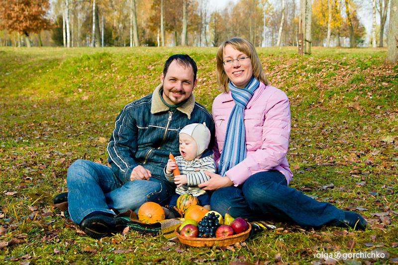 Осенняя фотосессия Тимура и его команды