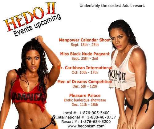 Events Sexy, Hedonism,Miss Black Nude Beauty Pageant
