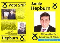 SNP Scottish Election Leaflet, 2011 (Scottish Political Archive) Tags: party scotland election scottish msp national publicity campaign cumbernauld hepburn kilsyth snp 2011
