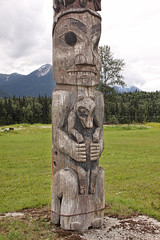 Ancient Totem Pole - over 100 years old (Alan Vernon.) Tags: bear old original canada heritage wolf bc native britishcolumbia totem pole northamerica poles preserved past relic kitwanga gitwangak alanvernon copyright2011alanvernon gitwangax