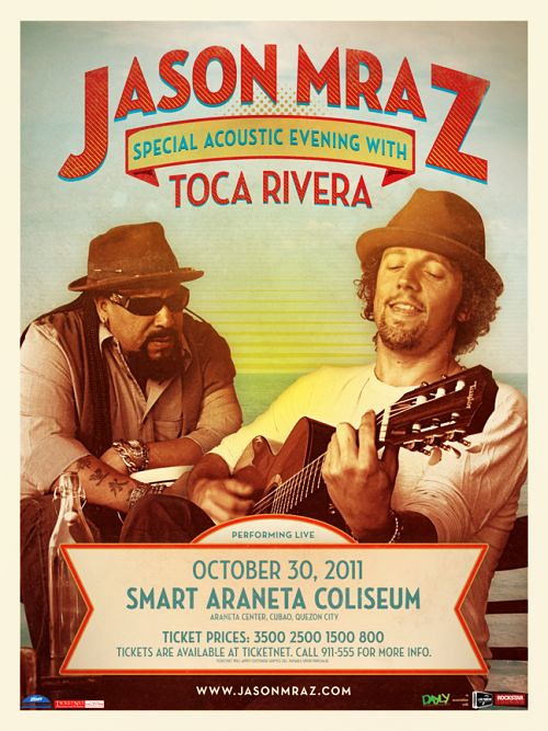 Jason Mraz Special Acoustic Evening with Toca Rivera