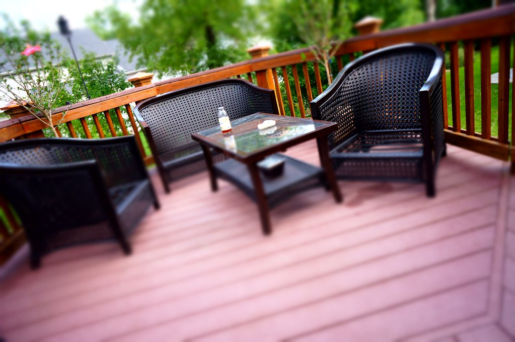 Deck Furniture as seen with Miniature Effect