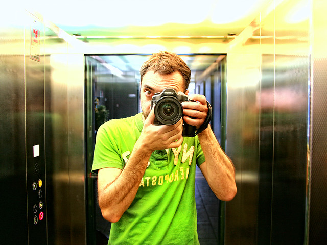 Self-Portrait in elevator