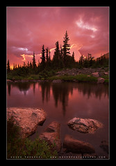 A Break in the Storm (Koveh Photography) Tags: travel pink trees light sunset vacation orange usa mountain lake snow mountains cold color reflection fall beauty rain clouds digital photoshop sunrise canon eos high colorado rocks photographer cloudy tripod dramatic wideangle denver september alpine co rmnp estespark flattop rockymountainnationalpark lightroom ballhead 1635 landscapephotography nohdr ef1635 notchtop tworiverslake photoclam 5dmkii kovehphotography koveh feizol