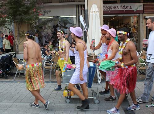 Jóvene disfrazando gozando de las fiestas Mateas 2011