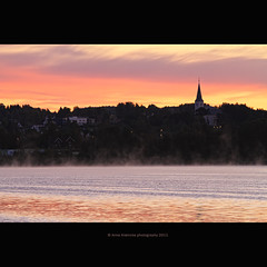 fall (stella-mia) Tags: pink sun norway sunrise hamar hst mjsa 70200mm vang hightlight canon7d lakemjsa