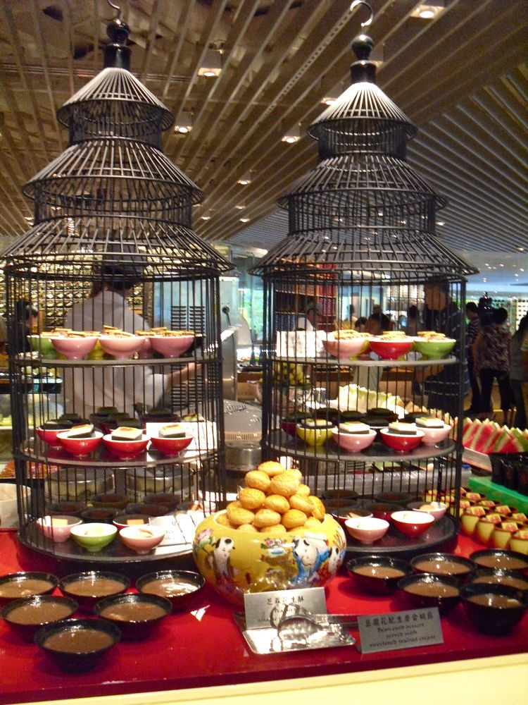 dessert display shangri la