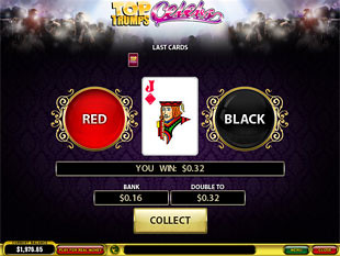 free Top Trumps Celebs slot gamble feature