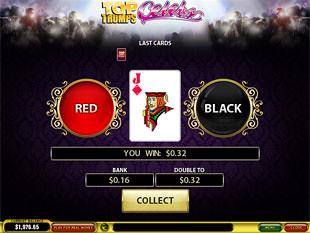 free Top Trumps Celebs slot gamble feature