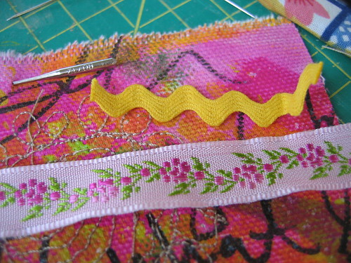 Painted & sewn - detail 4