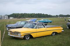 Chevrolet 1959 el camino (Drontfarmaren) Tags: old 6 classic cars chevrolet camino sweden stockholm wheels cruising august 11 el american nationals nats 1959 sveavgen augusti 2011 barkarby