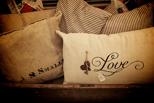 Zoar Ohio Harvest Festival 2011:  Love pillows.