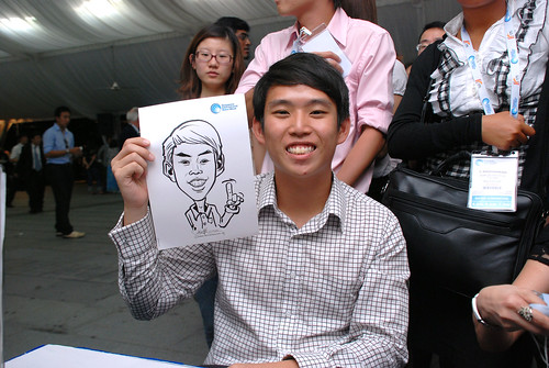 caricature live sketching for Singapore International Water Week Closing Dinner - 28