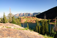 Lake Blanche with Big Cottonwood Canyon in the background