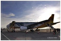 cebu pacific at the runway (Rhannel Alaba) Tags: city lens airport nikon pacific philippines international cebu runway vr d90 pido alaba 18105mm rhannel