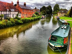 View from the Bridge - Hungerford, Berkshire (Andy Blackwell Photography) Tags: uk greatbritain england sky cloud colour tourism water reflections painting landscape boats canal marine walks colours postcard picture surreal peaceful august visit tourist hungerford processing boating longboat serene hd ripples fx berkshire processed avon tranquil atmospheric beatiful waterway towpath berks kennet kennetavon kennetandavoncanal postprocessing britishwaterways skynews 2011 therose thamesvalley yourphotos beautifulbritain paintingthephotograph canalcruises emotionalphotography poeticphotography excellentphotos prettyvillages