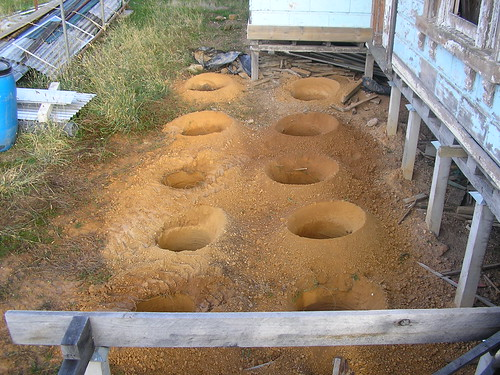 holes for front verandah stumps