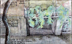 Billinghurst, los edificios de enfrente. 13 Agosto, 2011. (Sharon Frost) Tags: streets buenosaires haiku paintings drawings balconies sketches sketchbooks journals notebooks billinghurst sharonfrost daybooks