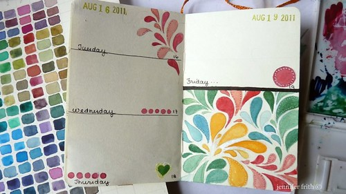 Sketchbook Journal - August by jennyfrith