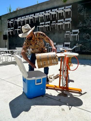 pedal powered ice cream maker