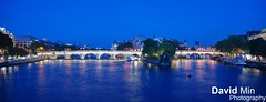 Paris, France - Ile de la Cit (GlobeTrotter 2000) Tags: bridge blue light panorama paris france tourism saint seine night river de island louis la europe cityscape cit arts ile visit des hour pont notre dame neuf