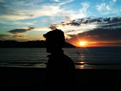 Gaivota (Cidrs) Tags: sunset corua sombra playa bb gaviota anochecer orzn scar