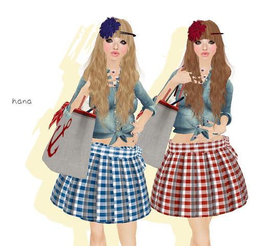 **Honey*Soul-Gingham-Skirt