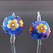 Earring Pair : Blue Flower Blossom