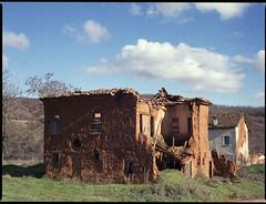 Abadoned Village - Gavros (ndouz) Tags: old sky house film village cloudy kodak north greece bronica medium format abadoned 160nc potra
