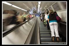 Calm and frantic (Mirko Daniele Comparetti) Tags: street people motion underground movement stair flickraward