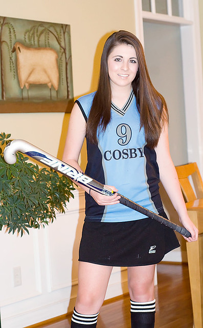 Emma sporting her Field Hockey Uniform