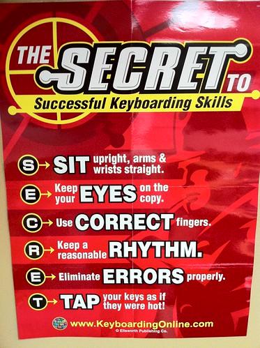Keyboarding Skills Poster