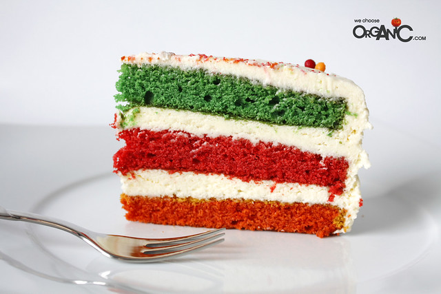 Colorful 3-Layer Cake