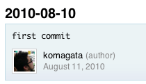 Commit History for komagata/lokka - GitHub