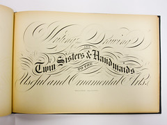 A page from Beckers Ornamental Penmanship and Draftsmans Letter Book, 1854 (reprinted in 1941) (Herb Lubalin Study Center) Tags: