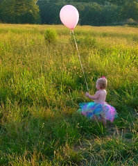 balloons and babies (PamiKnows) Tags: birthday pink portrait baby girl field landscape alabama balloon tutu infocus highquality 2011 august16 panasonicdmcfz100