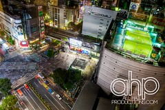 Shibuya Intersection HDR ( (TD of AllHailProductions.com) Tags: above people japan night tokyo crazy nikon nightshot taxi soccer awesome shibuya busy hdr highdynamicrange td nightgame ahp d90 allhailproductionscom tdkonkara bright